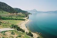 View of lake at Konya in Istanbul in Turkey Stock Photos