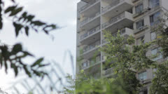 Building to nature, tilt Stock Footage
