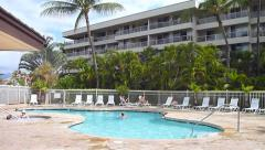 Condo Pool in Hawaii Stock Footage