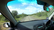 Stock Video Footage of Driving On Dirt Road 01 HD