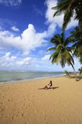 las terrenas beach, samana peninsula - stock photo