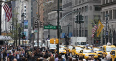 Ultra HD 4K Crowds, Traffic, Commuters, New York City, People Passing, USA Stock Footage