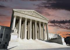 supreme court washington dc storm - stock photo