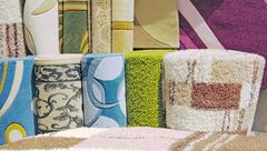 Samples of carpet coverings Stock Photos