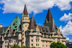 ottawa's old château laurier hotel - stock photo