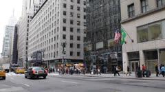 Rush Hour  Crowded Street NYC, Traffic Jam, Midtown Manhattan, New York City Stock Footage