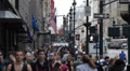 Crowds Passing People Crossing, Rush Hour Commuters, New York City Manhattan USA Footage