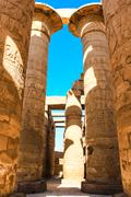 Karnak temple, Luxor city, Egypt Stock Photos