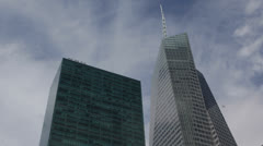 One Bryant Park, Skyscrapers, The Bank of America Tower, New York City, USA Stock Footage