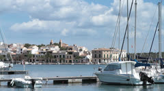 Picturesque view of Porto Colom, Spain Stock Footage
