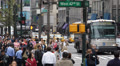 Crosswalk in NYC, People walking on the street of Manhattan Island, Crowded Road Footage