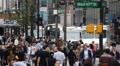 Rush Hour Commuters Crossing, New York City, Crowds, Traffic, Manhattan, USA Footage