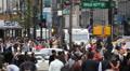 NYC Busy Street Traffic, Crowd Pedestrian People Crossing Street New York City HD Footage
