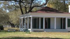 Hayes Pavillion at Bearvoir, Biloxi Mississippi Stock Footage