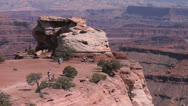 Stock Video Footage of Visitors Enjoying Scenery at Canyonlands National Park