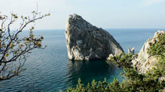 "Rock ""Diva"" in Crimea - stock footage"