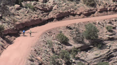 Two Cyclists - Canyonlands National Park, Utah Stock Footage