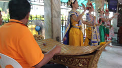Thai traditional instrument Era-wan junction Stock Footage