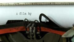 Typing a text on an old typewriter: A Film by Stock Footage