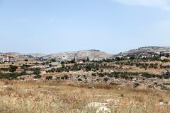 Bil'in village palestine israel Stock Photos