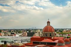 Basilica of Guadalupe Compound - stock photo