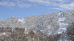 Snowy mountain Stock Footage