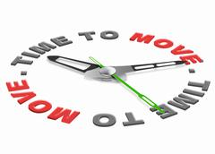 Stock Illustration of time to move