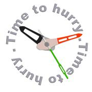 Time to hurry Stock Illustration