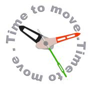 time to move - stock illustration