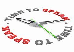 time to speak - stock illustration