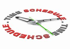 time schedule - stock illustration