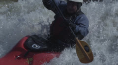 Extreme Slow Motion Kayak in White Water - stock footage
