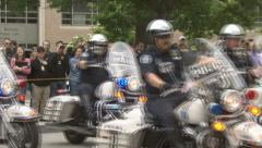Motorcycle Police Stock Footage