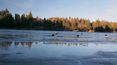 Icy, winter lake. - stock footage