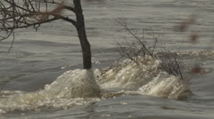 Natural Disaster - Severe Urban Flooding in Slow Motion Stock Footage