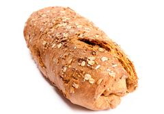 Wholemeal bread isolated Stock Photos