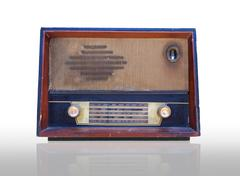 Vintage radio isolated Stock Photos