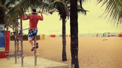 Stock Video Footage of Workout in Ipanema Beach - Rio de Janeiro, Brazil