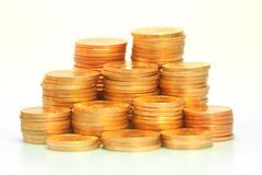 Gold coin stack Stock Photos