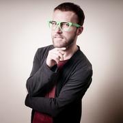 Stylish hipster man portrait Stock Photos
