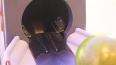 Automatic bowling ball Stock Footage