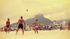 Beach Soccer Stock Footage