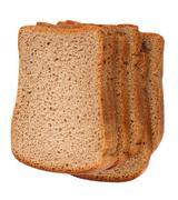 Dark bread isolated Stock Photos