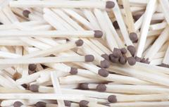 Many scattering of matches Stock Photos