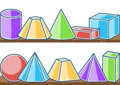 Seamless pattern mathematics solids Stock Illustration