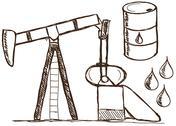 Oil - petrol  doodles Stock Illustration