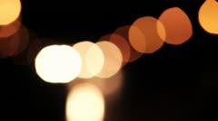 Night city bokeh traffic lights 3 Stock Footage