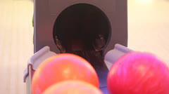 automatic bowling ball - stock footage