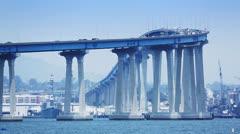 Coronado Bridge, San Diego Stock Footage