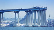 Stock Video Footage of Coronado Bridge, San Diego